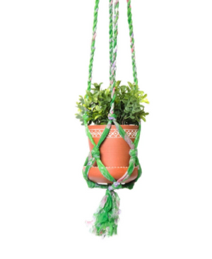 Petite Sari Macame Dot Planter