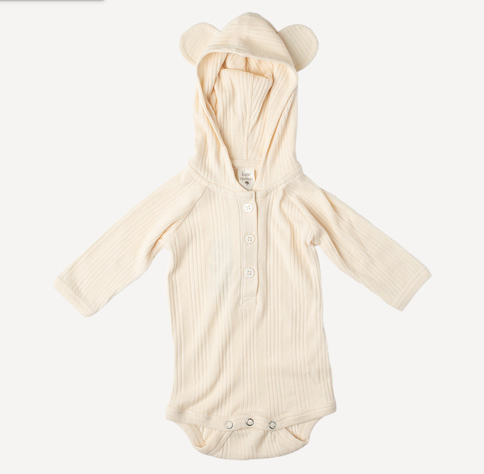 Organic Cotton Bear Suit - Oatmeal