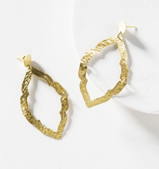 Moroccan Window Earring - Gold