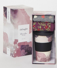 Teacher Appreciation Reusable Bamboo Coffee Tumbler and Sock Duo