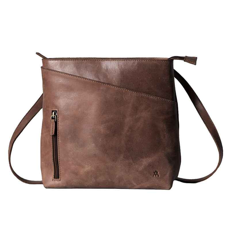 Full Grain Leather Cross Body Conversion Backpack