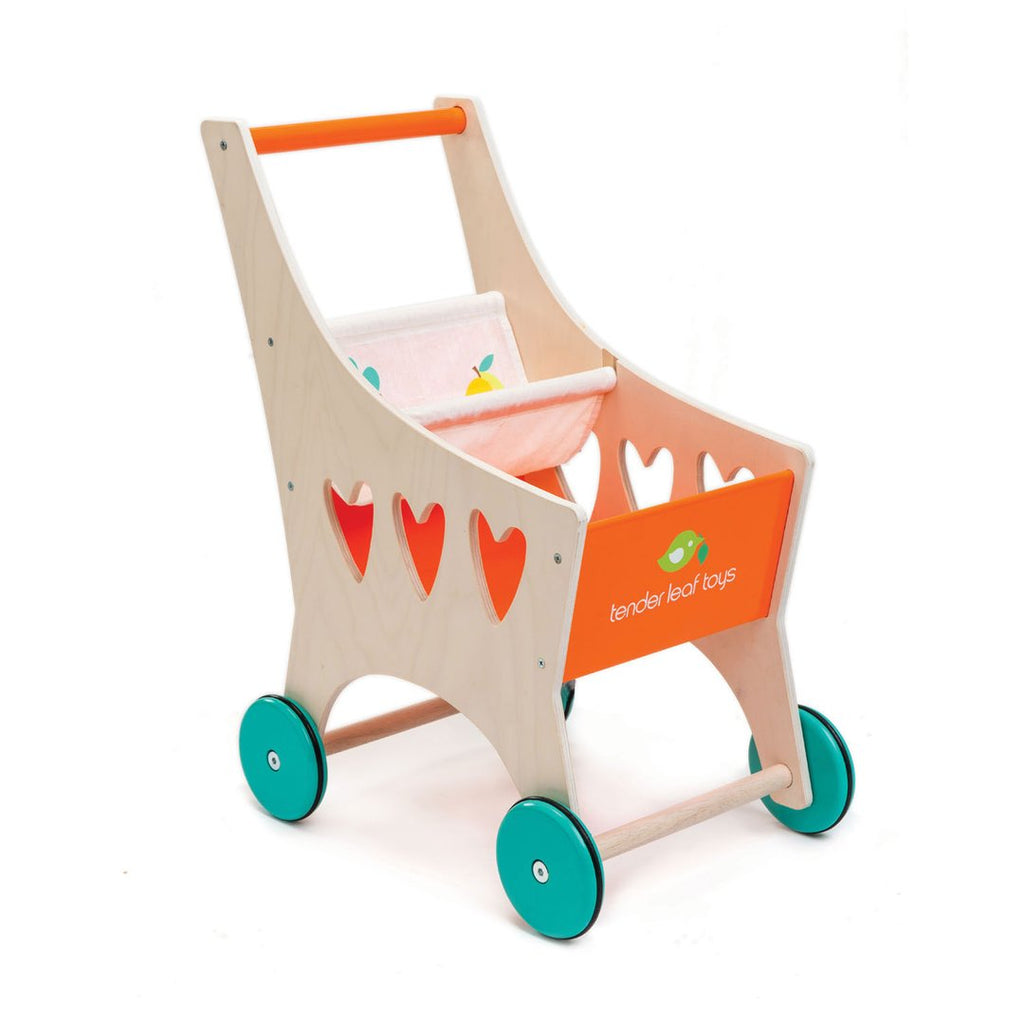 Toddler Wooden Shopping Cart