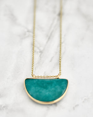 Teal Olivia Necklace