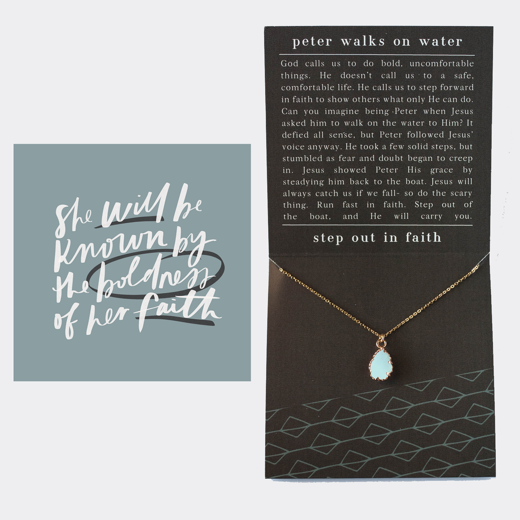 Walks on Water Necklace + Message