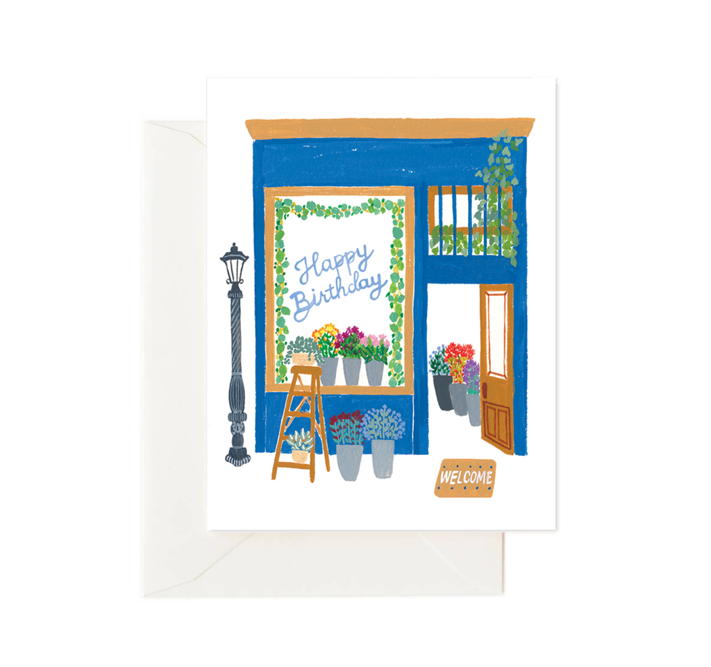 Happy Birthday Floral Shop Card