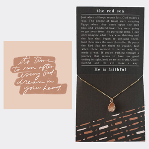 Red Sea Encouragement Necklace + Message