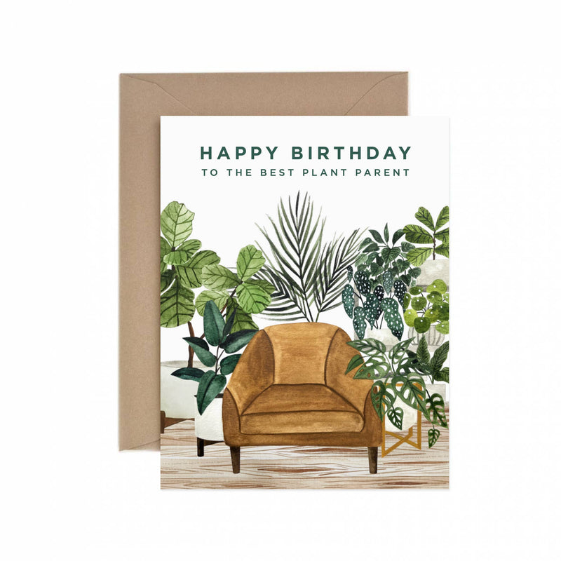Happy Birthday Best Plant Parent Greeting Card