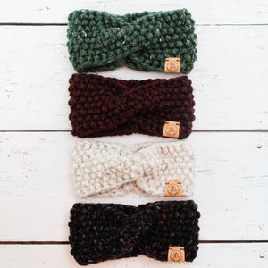 JackiBean - Hand Knit Twisted Turban Headband