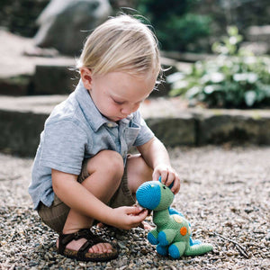 Lime Dinosaur Rattle