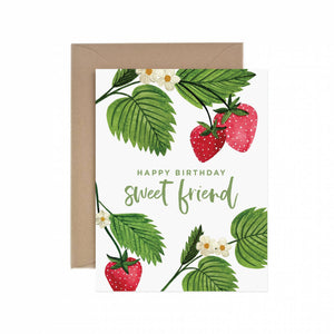 Happy Birthday Sweet Friend Greeting Card