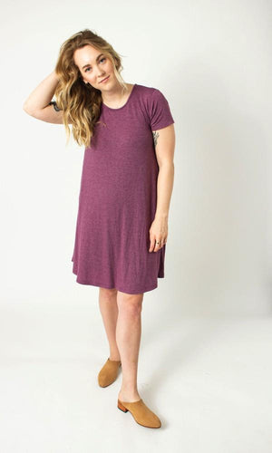 Light Eggplant Swing Dress