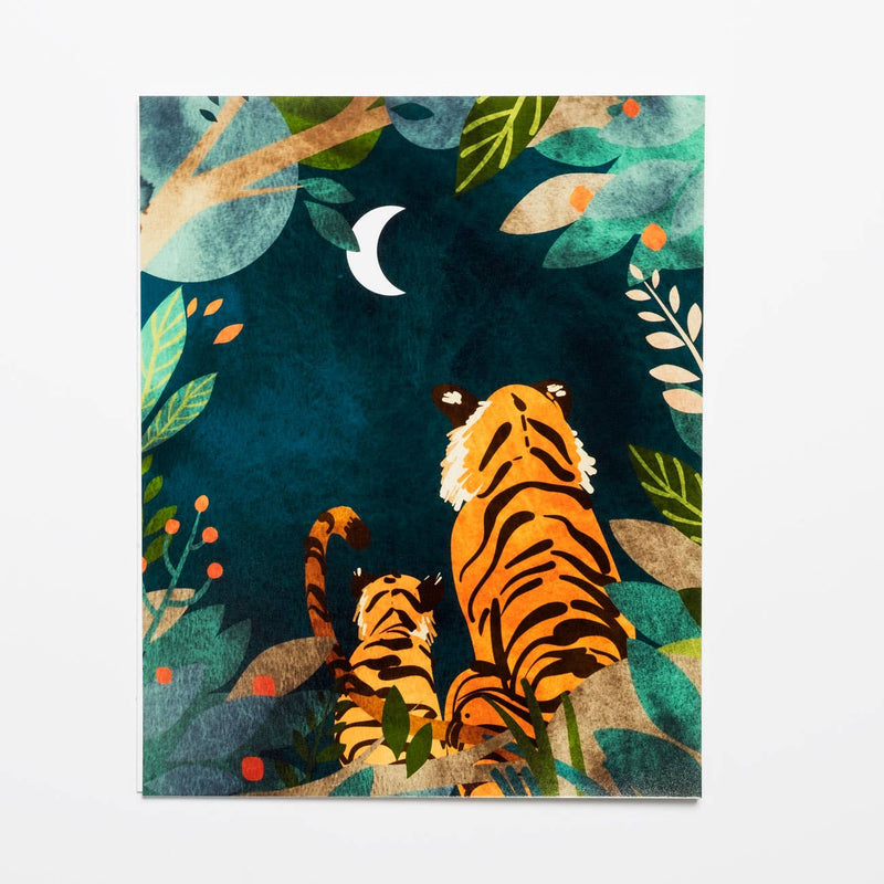 Tigers at Night Print
