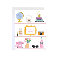 Happy Birthday Beauty Shelfie Card
