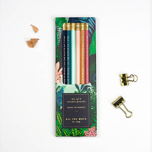 French Made Wild Pencil Set With Eraser