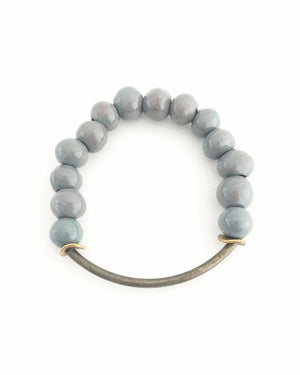 Elephant Grey Clay Bracelet