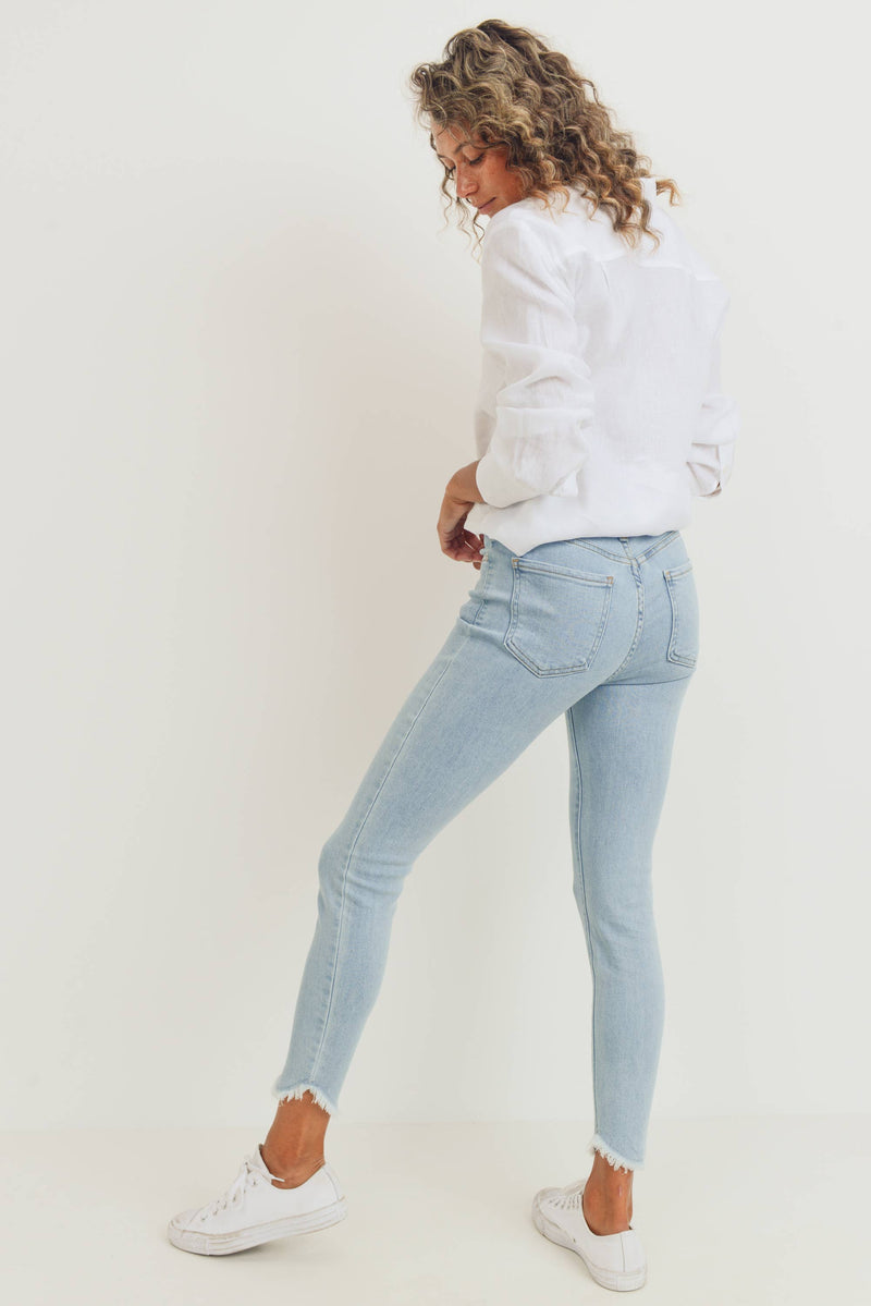 USA Made Tulip Fray Jeans