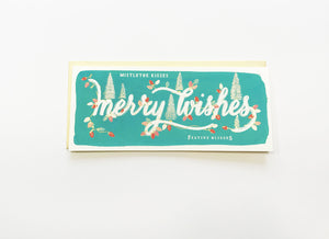 Merry Wishes Trees Card