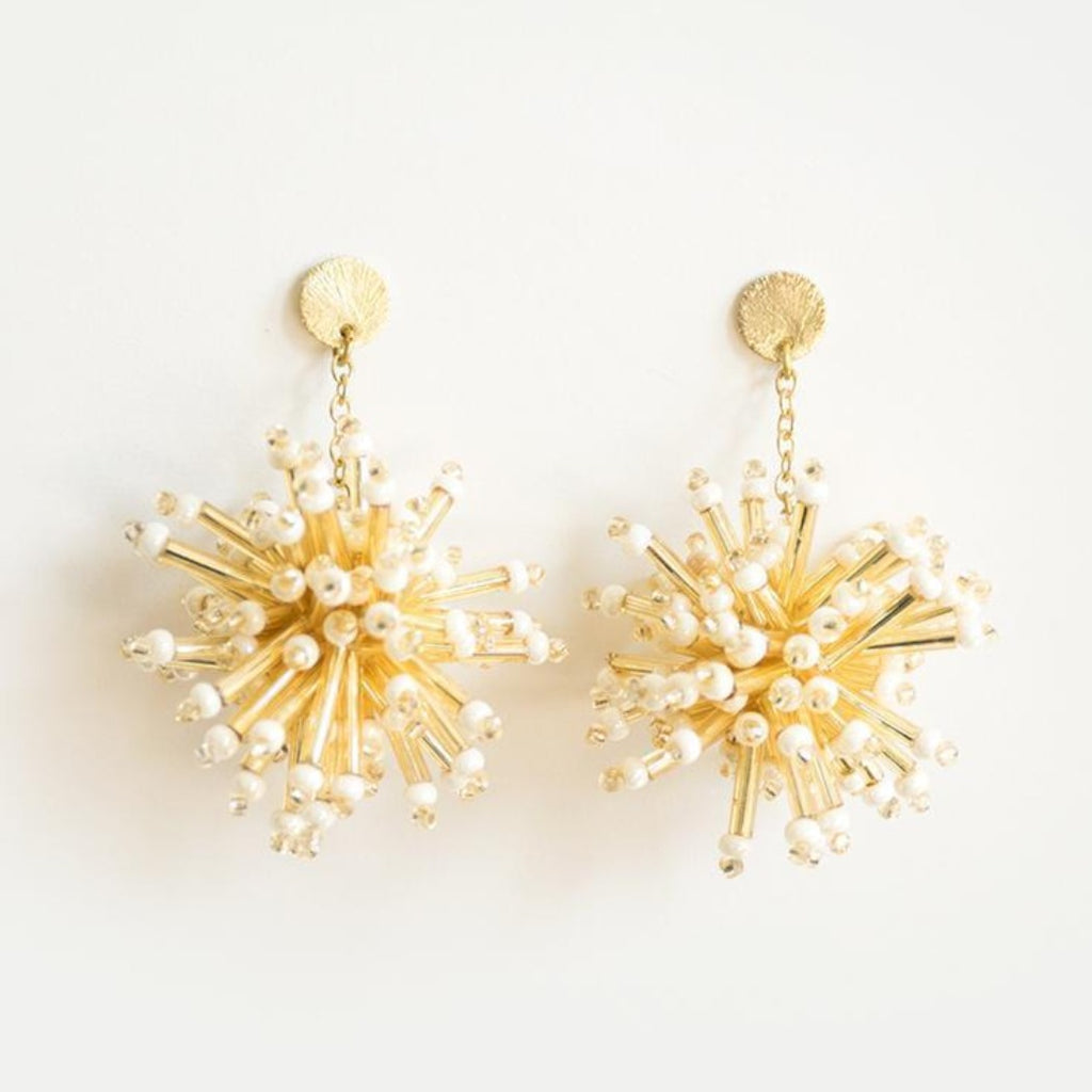 Golden Firework Stud Earrings
