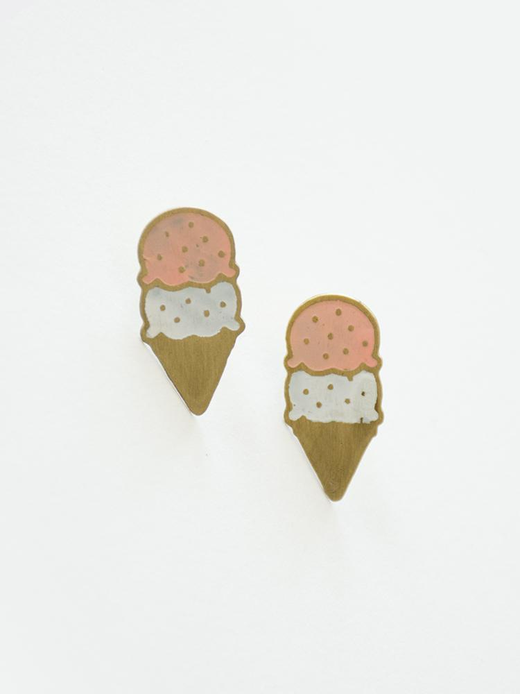 Ice Cream Stud Earrings