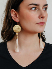 Thread Cascade Earrings