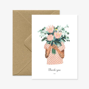 Tattoo Thank You Bouquet Card
