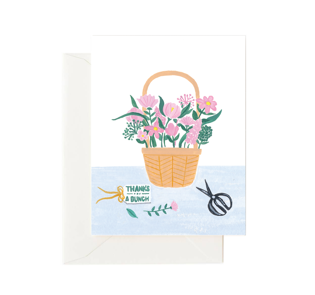 Flower Basket Thank You Card