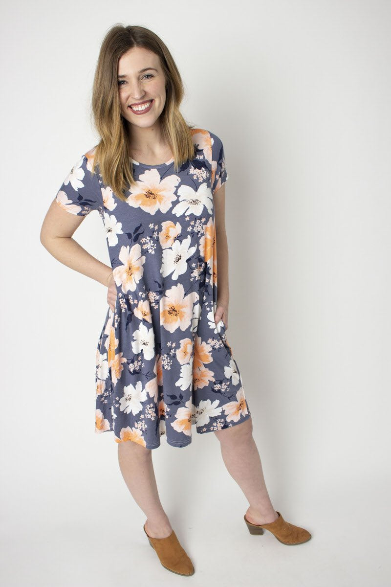 Rescued Cotton Florist Swing Dress