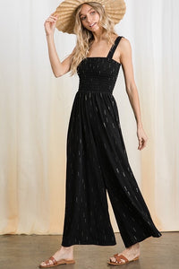 Speckle Black Jumpsuit