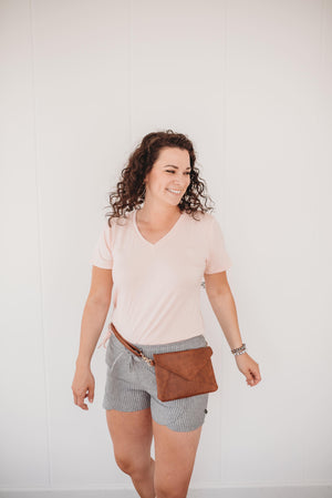 Vegan Brown Emily Cross Body