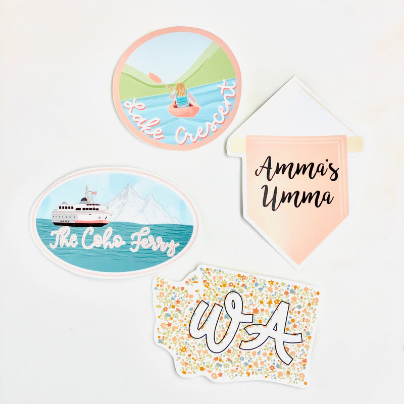 Washington Amma's Umma Sticker Bundle