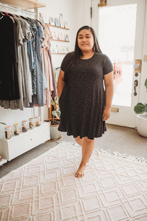 Rescued Cotton Speckle Swing Dress