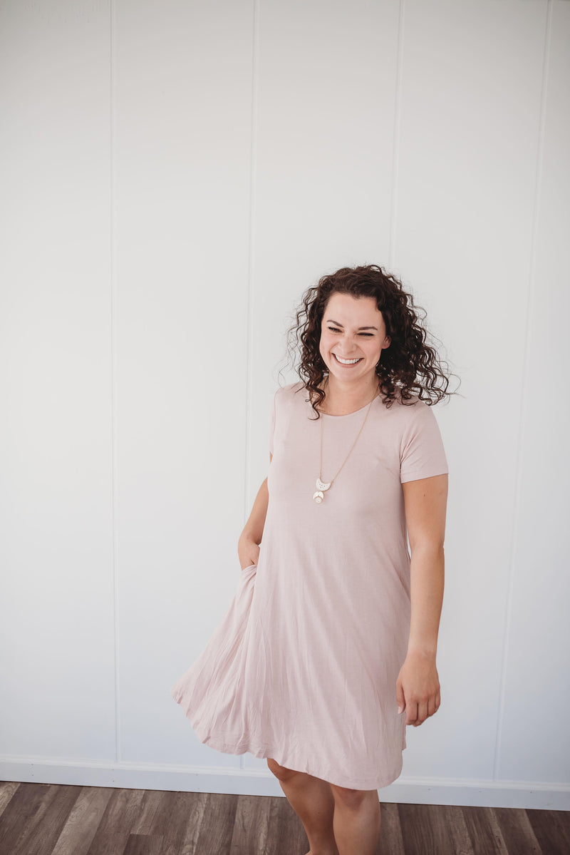 Rescued Cotton Pink Swing Dress