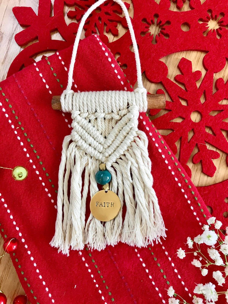 Haitian Macrame Faith Ornament