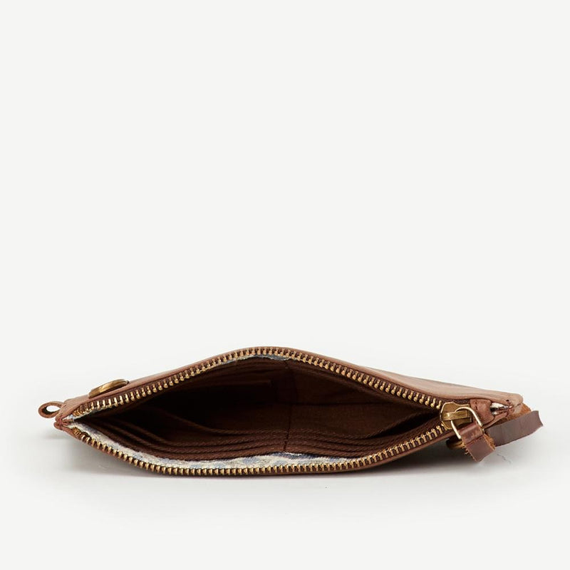 Dark Leather Kyra Crossbody Wallet