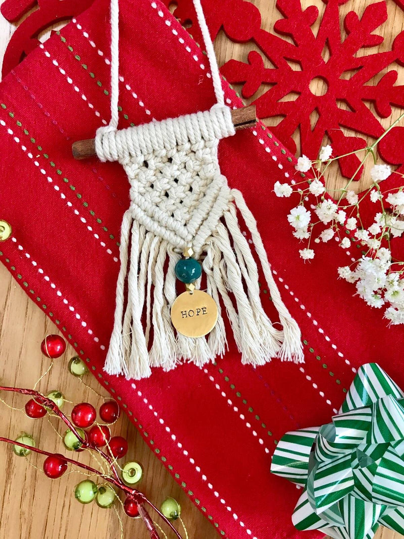 Haitian Macrame Hope Ornament