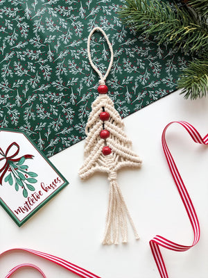 Haitian Macrame Tree Ornament