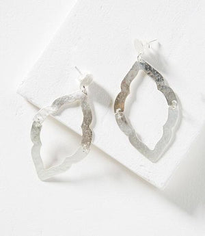 Moroccan Window Earring - Silver