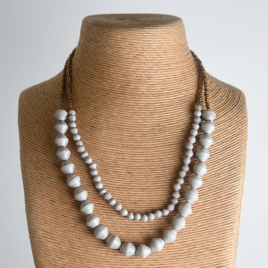Sunrise Necklace - Light Grey