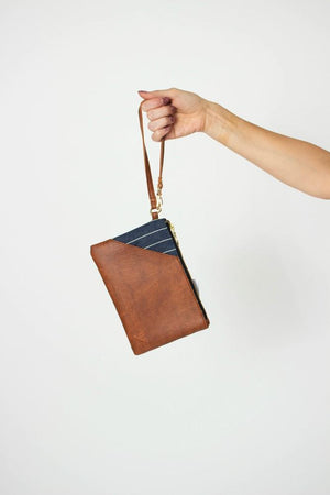 Vegan Colette Slot Clutch - Brown
