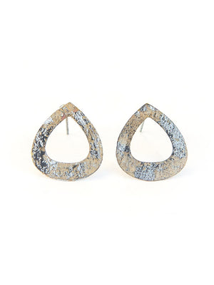 Tear Drop Painted Stud Earrings