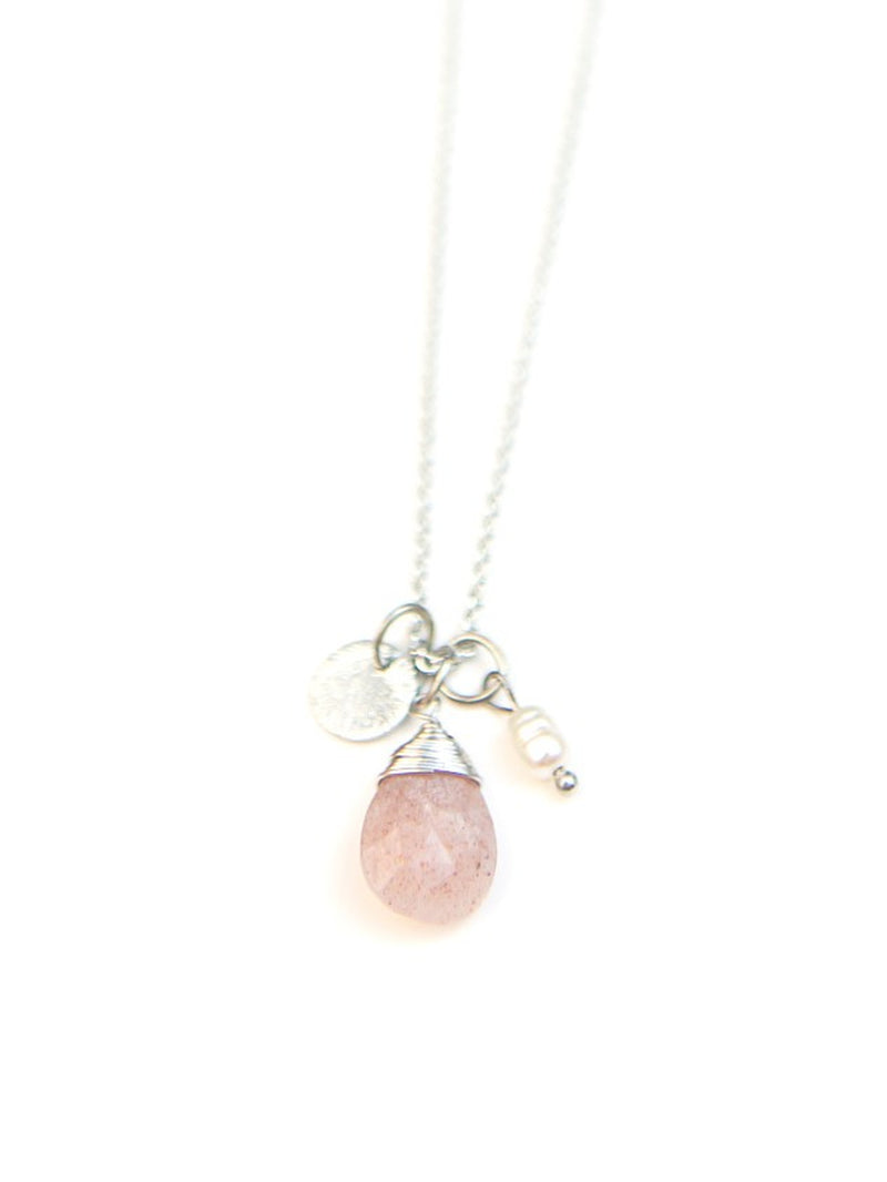 Sweet Pearl Necklace - Silver
