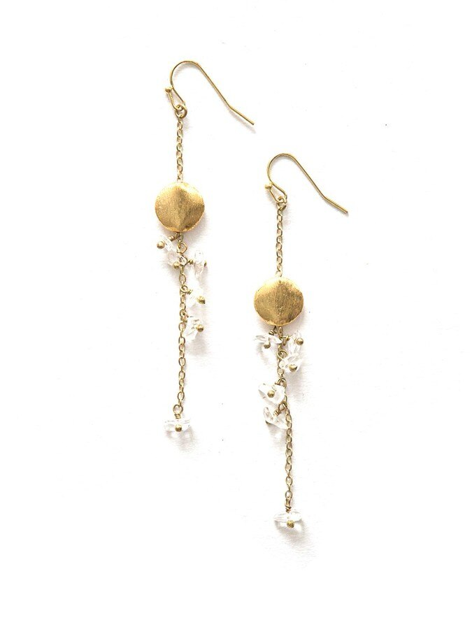 Delicate Dangle Stone Earrings