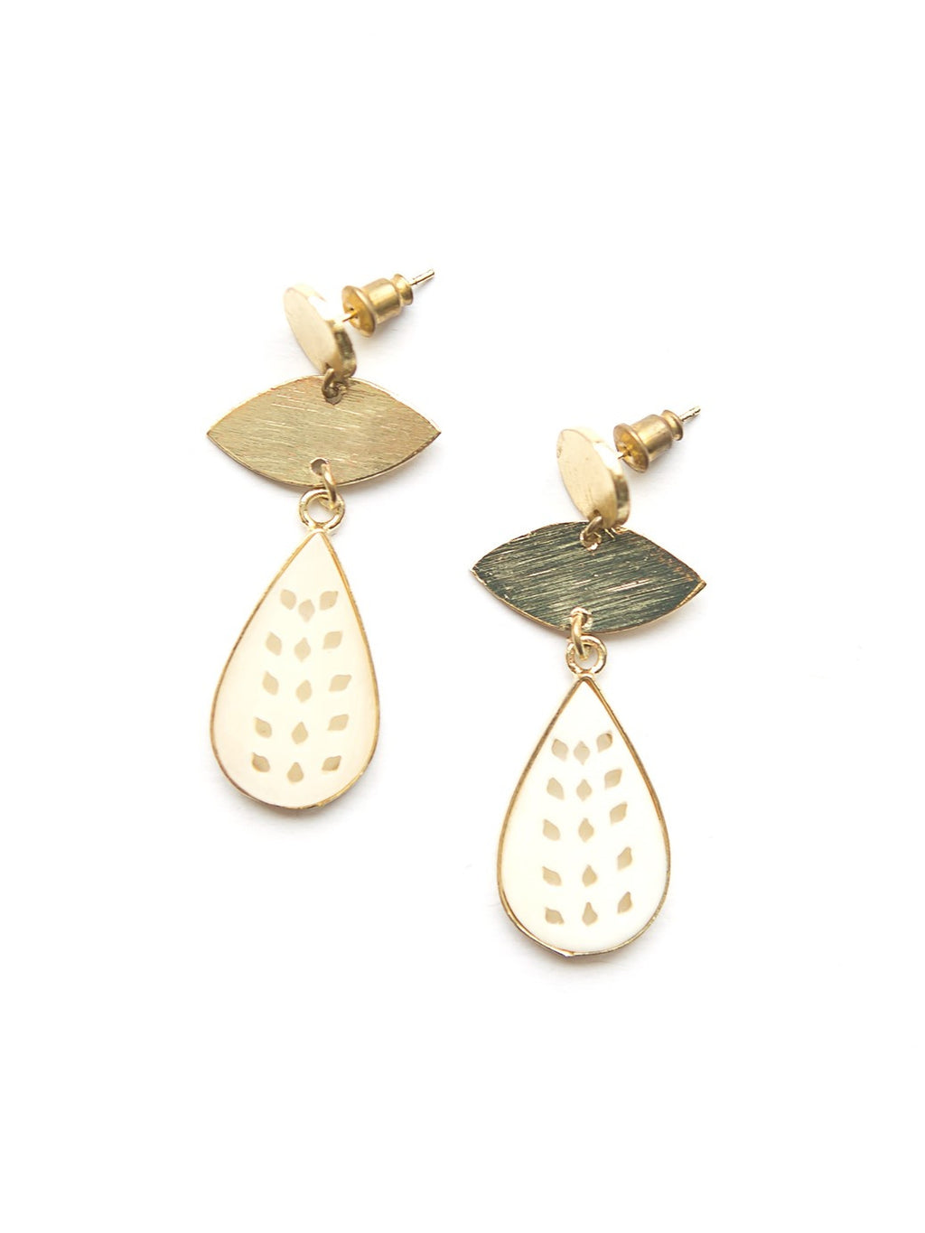 Ivory Bone Droplet Earrings