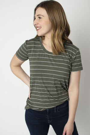 Rescued Cotton Vine Scoop Tee