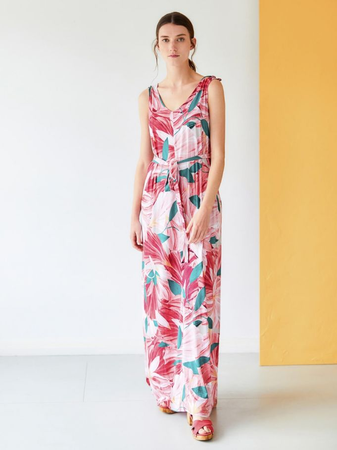 Short Girl Hibiscus Maxi