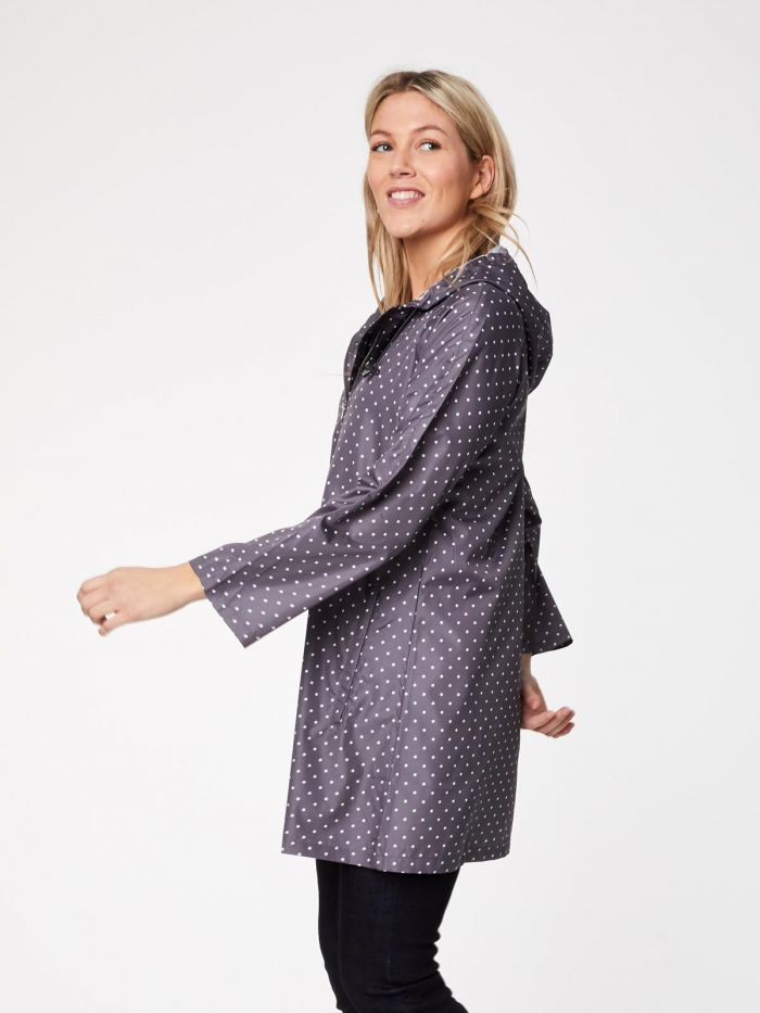 Recycled Violet Polka Raincoat