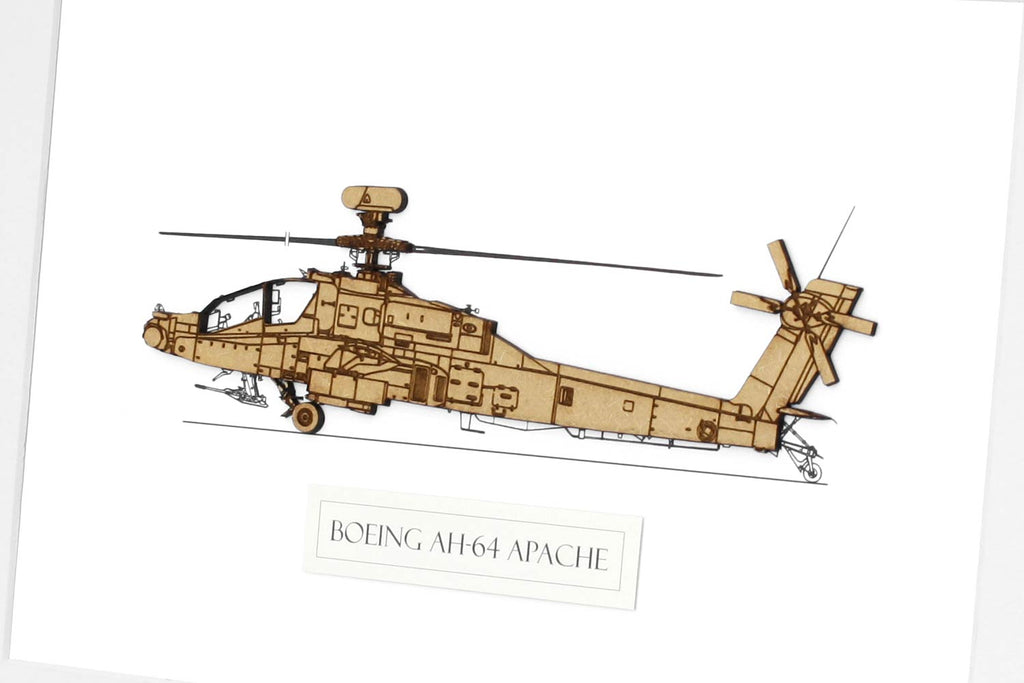 AH-64 Apache helicopter art