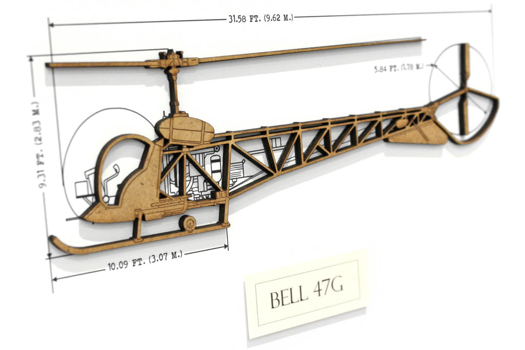 Bell 47G helicopter art