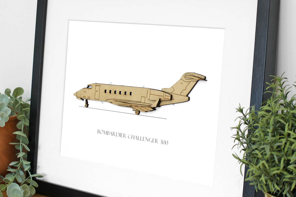 Bombardier Challenger 300 aviation art