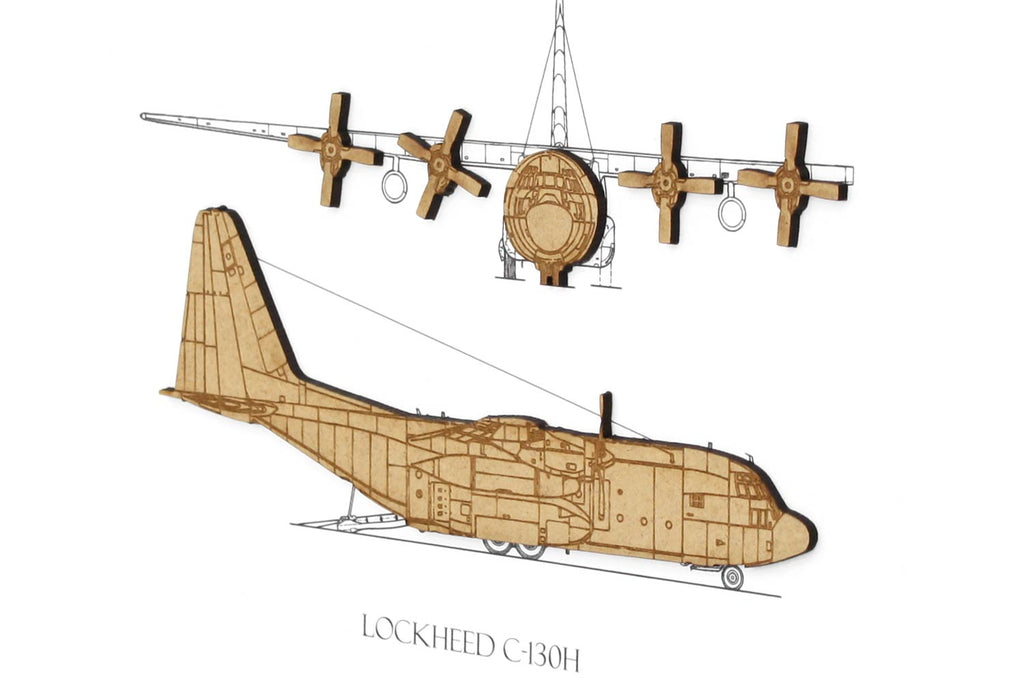 Lockheed C-130H aviation art